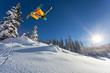 trick in fresh snow