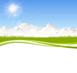Berge Skyline Wiese