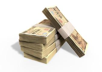 Japanese Yen Notes Pile
