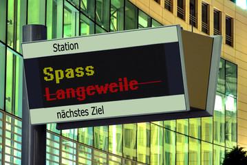 Anzeigetafel 2 - Spass