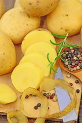 Kartoffeln, Messer