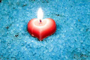 candele con sali da bagno
