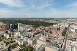 Aerial view Berlin with Potsdamer Platz and park Tiergarten