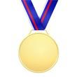 Médaille d'or avec ruban couleurs russes