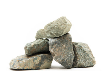スタジオで撮影した石