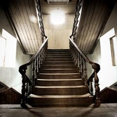 Old wood Stairway