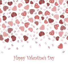 Vector background with Valentine's Day