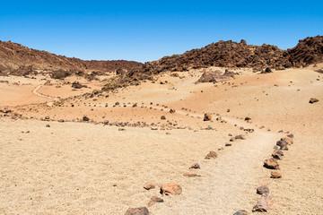Stone path through the desert