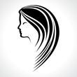 Beautiful woman silhouette stock vector