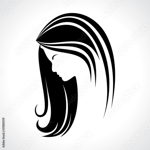 Beautiful woman silhouette stock vector