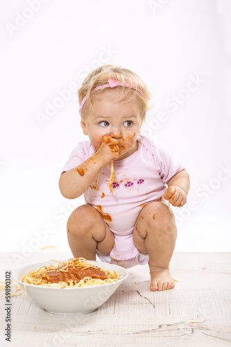 canvas print picture Hmm lecker Spaghetti :-)