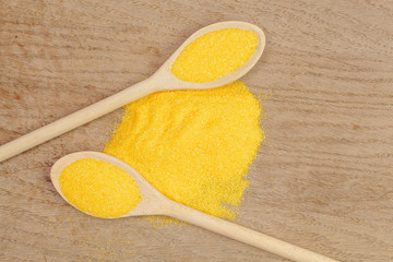 Spoons with cornmeal
