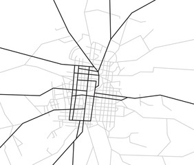 scheme of streets - vector city map