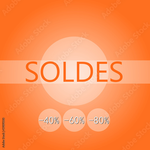 panneau soldes design orange