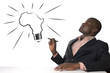 canvas print picture - Afrikanischer Mann hat geniale Idee