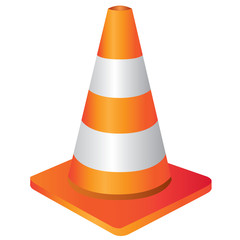 construction cone, traffic cone sign