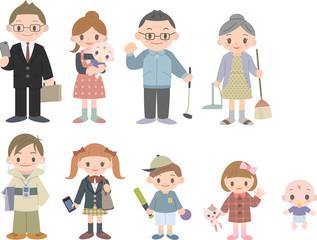 三世代家族9人