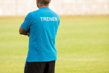 coach during training