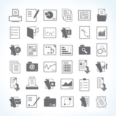 document icons, file icons