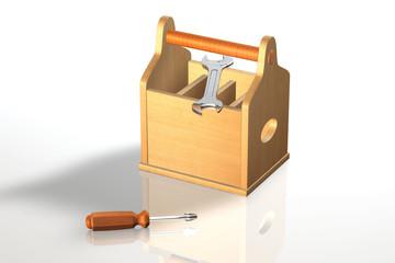 Werkzeugkiste Schraubenschlüssel