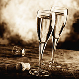 celebrate with sparkling wine
