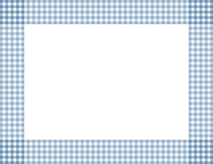 Blue Gingham Frame