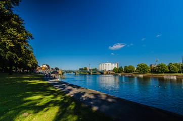 Riverside landscape in Nottingham