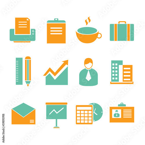 office icons, business icons