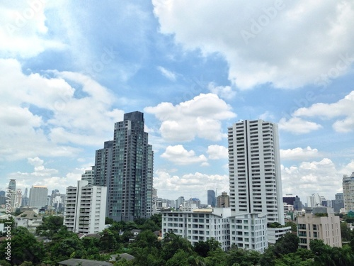 Office buildings in Bangkok of Thailand