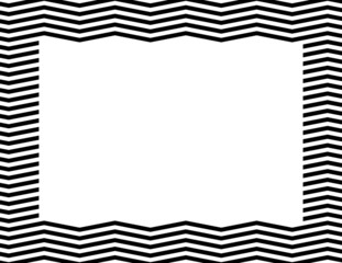Black Chevron Frame