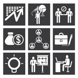 organization icons, management icon set
