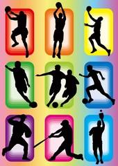 sport basketball soccer baseball icon silhouette