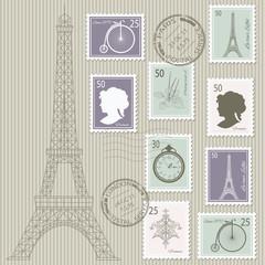 Postage stamps set.