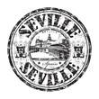Seville grunge rubber stamp
