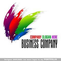 abstract business logo emblem vector