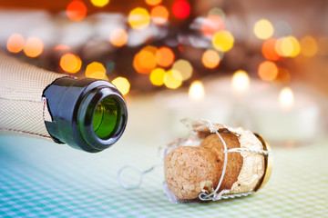 Champagne wine bottle cork