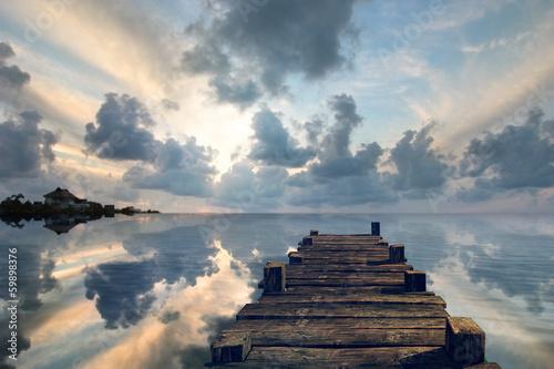 Old pier landscape - 59898376