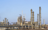 Overview of various petrochemical installations of a refinery