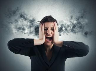 Stressed buinesswoman