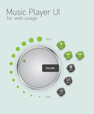 Music player user interface for web usage