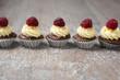 Schokocupcakes mit Himbeeren