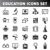 school icons, education icon set