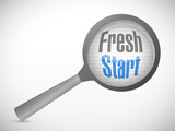 fresh start magnify glass illustration design