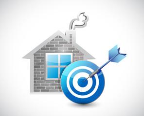 home and target illustration design