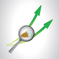 business concept arrows going up. illustration