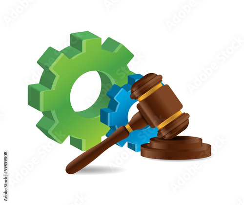 industrial law concept illustration design