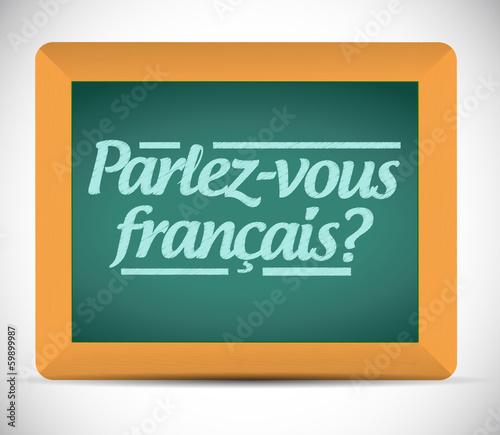 do you speak french. written in french