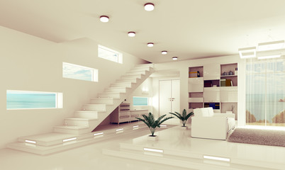 Apartment interior 3d render