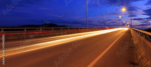 Light trails at blue hour