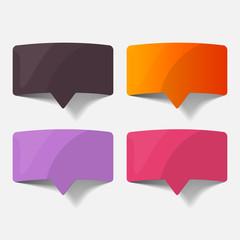 speech bubble, realistic design elements